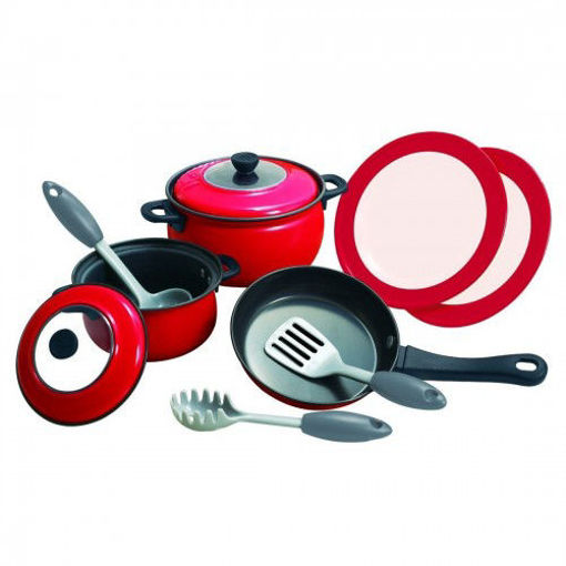 Picture of  Metal Plate Cookware Red