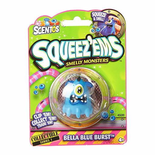 Picture of Scentos Squeez Ems Smelly Monsters Bella Blue Burst