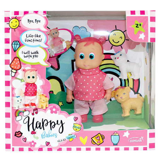 Picture of  Walking Doll With Pet  16Cm