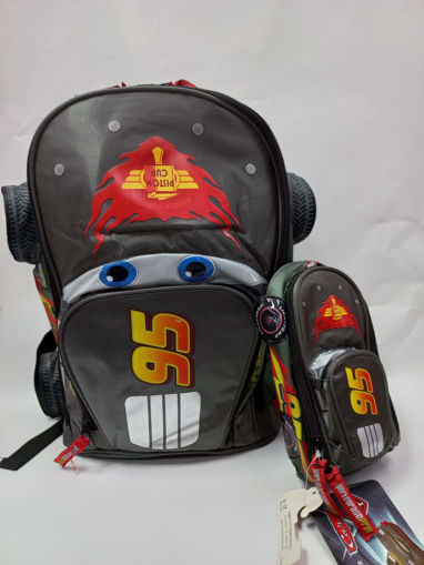 Picture of Cars 3D Carbon Set Of 2Pcs Backpack/Round Pencil