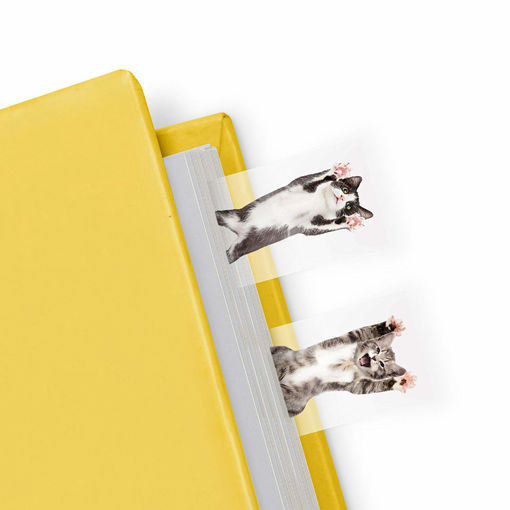 Picture of Mustard -Cat Shaped Page Markers