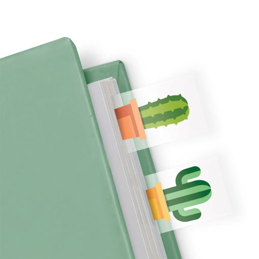 Picture of Mustard -Cactus Shaped Page Markers