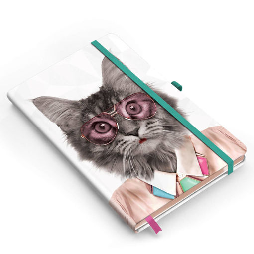 Picture of Mustard -Courtney Cat A5 Notebook