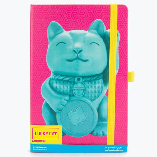 Picture of Mustard -Lucky Cat A5 Notebook