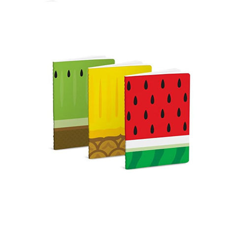 Picture of Mustard -Fruit Notebook - Set Of 3