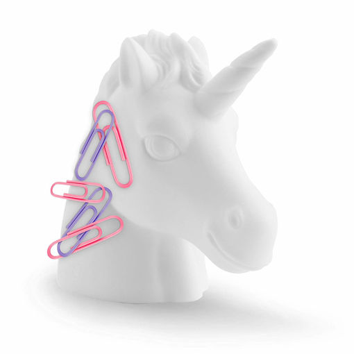 Picture of Mustard -Magnetic Paperclip Holder, Unicorn
