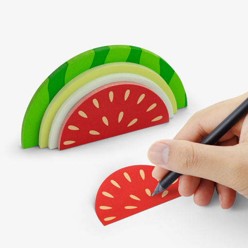 Picture of Mustard -Watermelon Shaped Sticky Notes