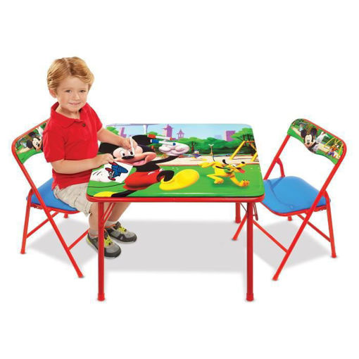 Picture of Folding Activity Table & Chairs - Mickey Roadsters