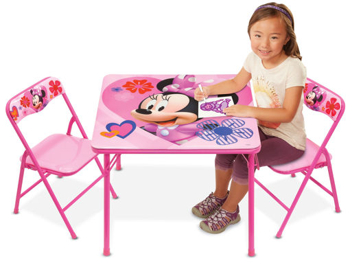 Picture of Folding Activity Table & Chairs - Minnie Mouse