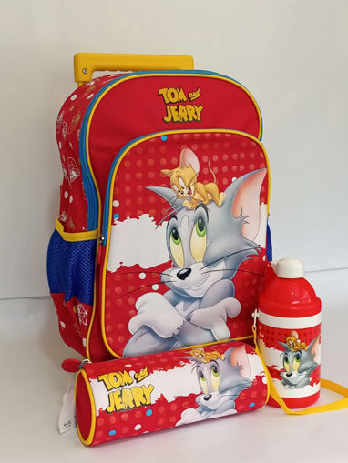 Picture of Tom & Jerry Set Of Trolley, Water Bottle & Round Pencil Case
