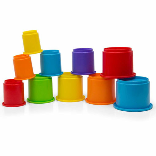 Picture of Rainbow Stackin  Cups - 10 Pcs